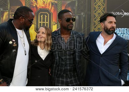 LOS ANGELES - MAY 19:  Brian Tyree Henry, Jodie Foster, Sterling K Brown, Drew Pearce at the