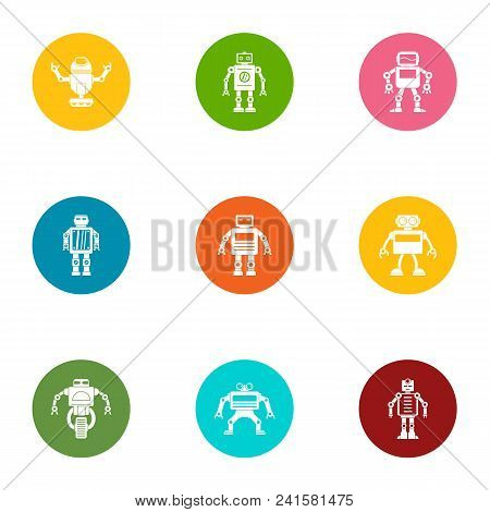 Bot Icons Set. Flat Set Of 9 Bot Vector Icons For Web Isolated On White Background