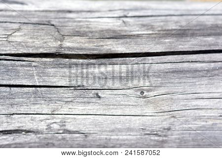 Worn Black And White Wooden Texture Close