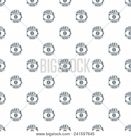 Make Money Pattern Vector Seamless Repeat For Any Web Design