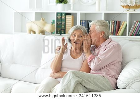 Close-up Portrait Of A  Senior Couple At Home