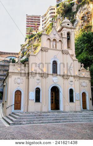Sainte-Devote Chapel in Monaco. It is dedicated to Saint Devota, the patron saint of Monaco. poster