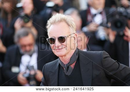 Sting attends  Closing Ceremony during the 71st  Cannes Film Festival at Palais des Festivals on May 19, 2018 in Cannes, France.