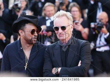 Shaggy, Sting attend Closing Ceremony during the 71st  Cannes Film Festival at Palais des Festivals on May 19, 2018 in Cannes, France.