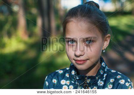 Close-up portrait of teenage girl.
