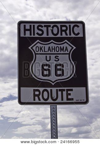 Route 66 Oklahoma Roadsign