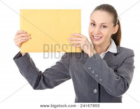 Office Manager And Large Brown Envelope