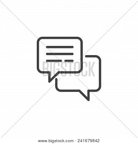 Speech Bubble Outline Icon. Linear Style Sign For Mobile Concept And Web Design. Comment Simple Line