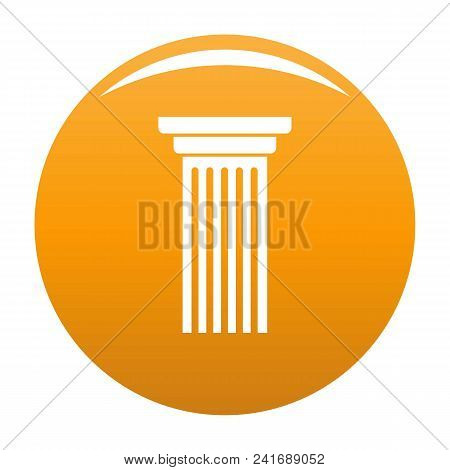 Italian Column Icon. Simple Illustration Of Italian Column Vector Icon For Any Design Orange