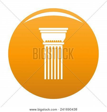 Building Column Icon. Simple Illustration Of Building Column Vector Icon For Any Design Orange
