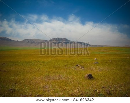Panorama View To Atlas Mountains And Valley In Morocco