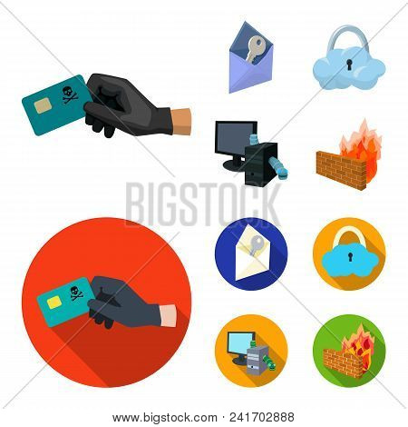 System, Internet, Connection, Code .hackers And Hacking Set Collection Icons In Cartoon, Flat Style