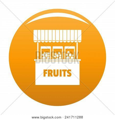 Fruits Selling Icon. Simple Illustration Of Fruits Selling Vector Icon For Any Design Orange