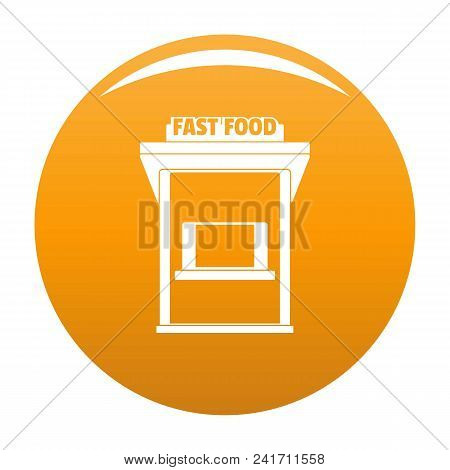 Fast Food Trade Icon. Simple Illustration Of Fast Food Trade Vector Icon For Any Design Orange