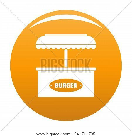 Burger Selling Icon. Simple Illustration Of Burger Selling Vector Icon For Any Design Orange