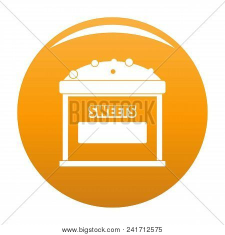 Sweets Selling Icon. Simple Illustration Of Sweets Selling Vector Icon For Any Design Orange