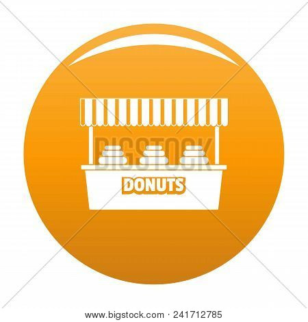 Donuts Selling Icon. Simple Illustration Of Donuts Selling Vector Icon For Any Design Orange