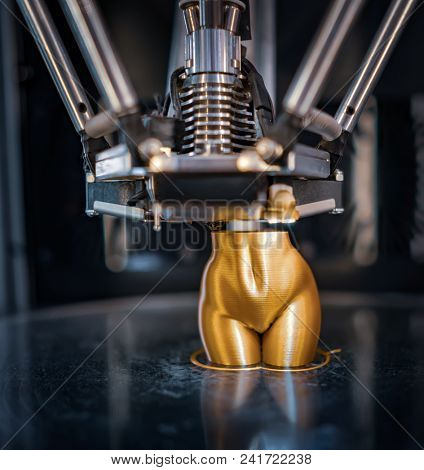 3D printer printing, also known as additive manufacturing (AM), refers to processes used to create a three-dimensional object in which layers of material are formed under computer control.