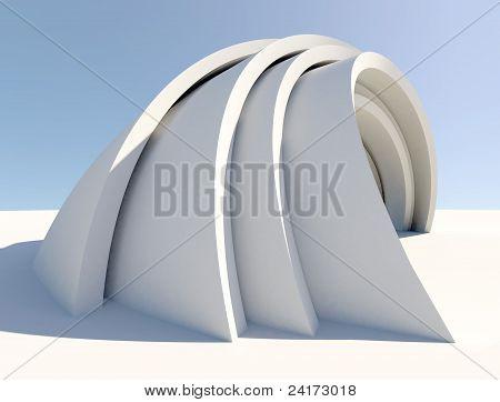 Twisted futuristic architecture form