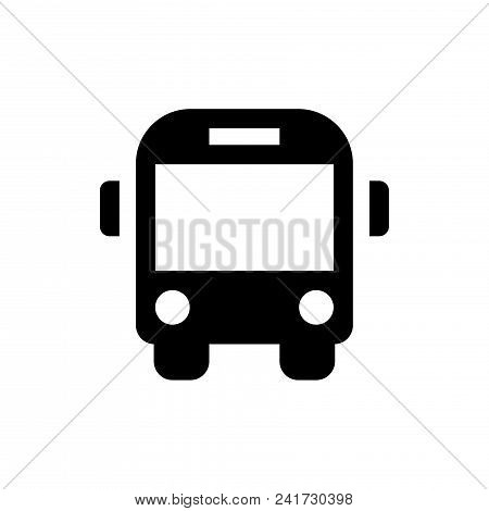 Bus Icon Vector In Modern Flat Style For Web, Graphic And Mobile Design. Bus Icon Vector Isolated On