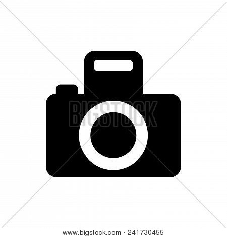 Photo Camera Icon Vector In Modern Flat Style For Web, Graphic And Mobile Design. Photo Camera Icon