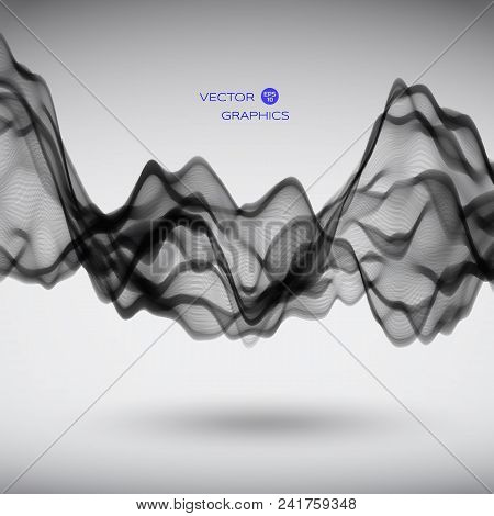 Pulsation Or Signal Vibration On Black Background. Vector Illustration.