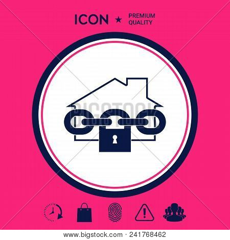 Home Lock Icon . Signs And Symbols - Graphic Elements For Your Design