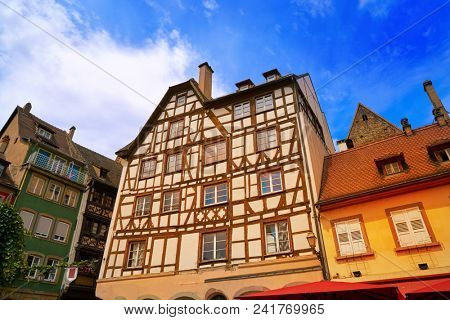 Strasbourg Place des Tripiers square in Alsace France