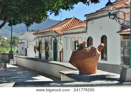 Mountain Village Fataga Is One From Most Popular Tourist Places To Visit In Gran Canaria, Spain. Als