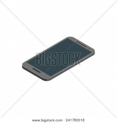 Smartphone Isometric View On A White Background Electronic Device. Vector Illustration