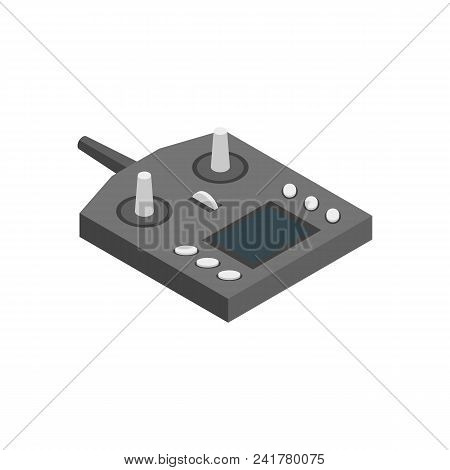 Console Equipment Technology For Multicopter Isometric View On A White Background Professional Elect