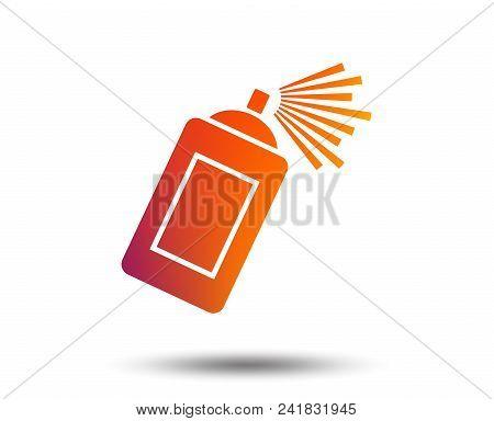 Graffiti Spray Can Sign Icon. Aerosol Paint Symbol. Blurred Gradient Design Element. Vivid Graphic F