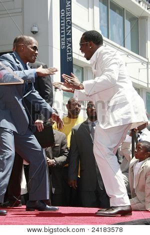 LOS ANGELES - MAY 2: Jamie Foxx and Sean 'P Diddy' Combs at a ceremony honoring him with a star on the Hollywood Walk of Fame on May 2, 2008 on Hollywood Boulevard in Los Angeles, California