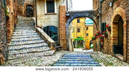 Traditional medieval villages of Italy - picturesque old streets of Casperia, Rieti province