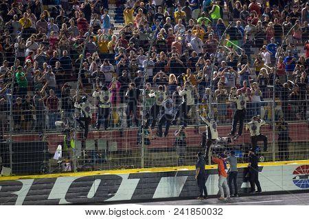 May 19, 2018 - Concord, North Carolina, USA: Kevin Harvick (4) wins the Monster Energy All-Star Race at Charlotte Motor Speedway in Concord, North Carolina.