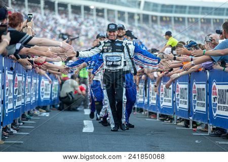 May 20, 2018 - Concord, North Carolina, USA: Clint Bowyer (14) gets introduced for the Monster Energy All-Star Race at Charlotte Motor Speedway in Concord, North Carolina.