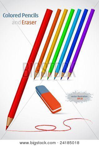 Pencil And Eraser.