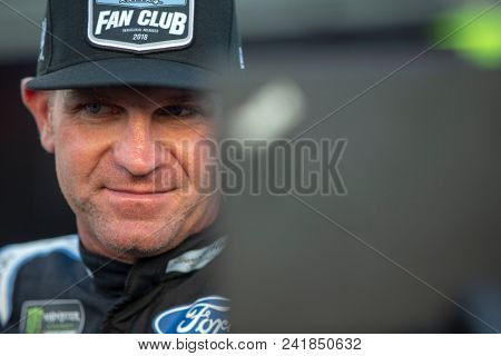 May 18, 2018 - Concord, North Carolina, USA: Clint Bowyer (14) gets ready to qualify for the Monster Energy All-Star Race at Charlotte Motor Speedway in Concord, North Carolina.