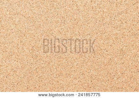 Blank Cork Board With Corkboard Texture Background Brown Grainy Backdrop For Bullentin, Advertisment