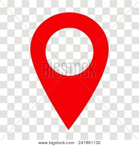 Location Pin Icon On Transparent. Location Pin Sign. Flat Style. Red Location Pin Symbol. Map Pointe