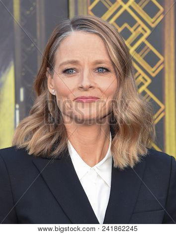 LOS ANGELES - MAY 19:  Jodie Foster arrives for the 'Hotel Artemis' Hollywood Premiere on May 19, 2018 in Westwood, CA