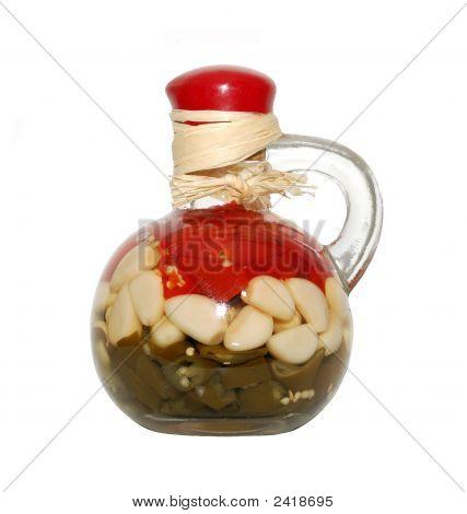 Bottle With Sealed Vegetables