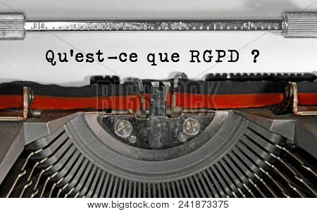 Qu Est-ce Que Rgpd Text In French That Means What Is The Gdpr Ge