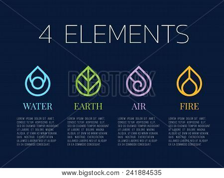 Earth Air Fire Water Images Illustrations Vectors Free Bigstock