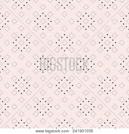 Subtle Minimalist Dotted Seamless Pattern, Delicate Vector Texture In Trendy Pastel Colors. Abstract