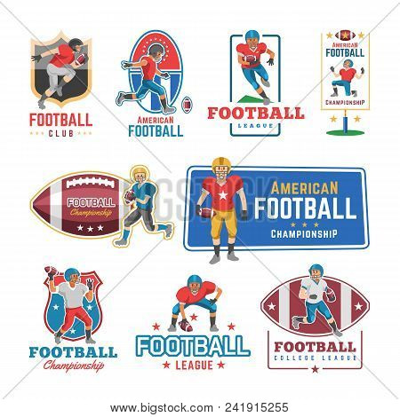 Soccer Logo Vector Footballer Or Soccerplayer Character In Sportswear Playing With Soccerball On Foo