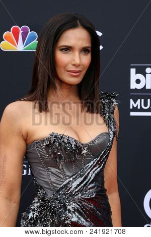 LAS VEGAS - MAY 20:  Padma Lakshmi at the 2018 Billboard Music Awards at MGM Grand Garden Arena on May 20, 2018 in Las Vegas, NV