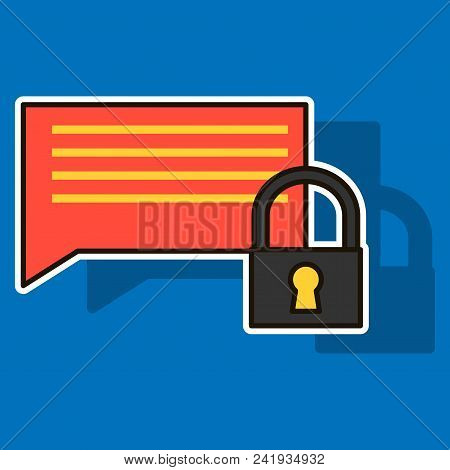Sticker Spam Outline Symbol On Background. Vector Block Element In Trendy Style.