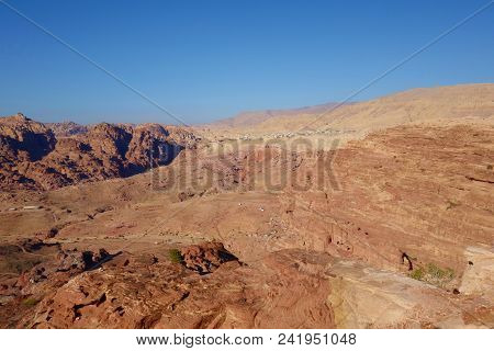 Panoramic View Of Petra From The High Place Of Sacrifice, Jordan