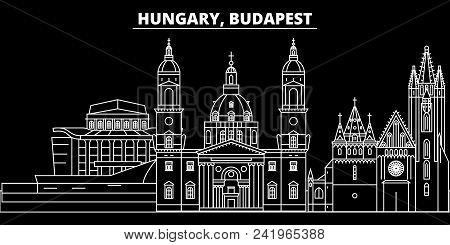 Budapest City Silhouette Skyline. Hungary - Budapest City Vector City, Hungarian Linear Architecture